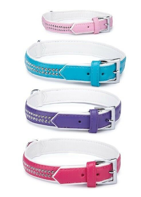 Sparkle Gem Studded Dog Collar Fashion Color Rhinestone - Choose Size & Color - $14.54 - $27.13