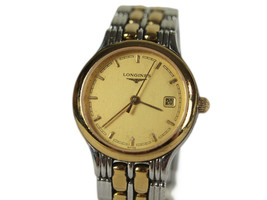 LONGINES Date Gold Plated Stainless Steel Quartz Women's Watch LW18157L - $249.00