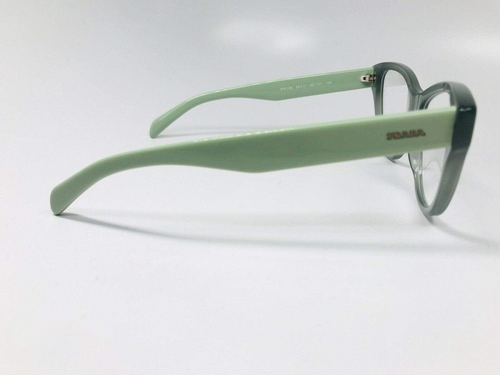 New Prada VPR 23S UEI-101 Green On Light Green  Eyeglasses 54mm with Case