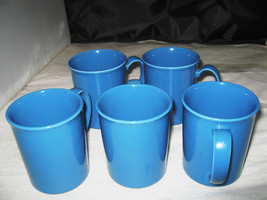 """(5) Corning """"Country Violets"""" Solid Blue Coffee Mugs - $9.99"""