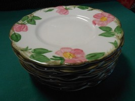 "Great Collectible  6 FRANCISCAN ""Desert Rose"" Dessert/Bread/Salad PLATES... - $27.43"