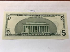USA United States $5.00 banknote uncirculated 1999 #7 - $12.95