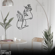 Line Face Metal Wall Art,35x55cm Line Fingers and WomanMetalWallArt,Line... - $65.40