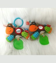 Set of 2 Infantino Cow Baby Rattle Lovey Activity Teether Stroller Crib ... - $9.99