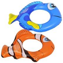 "Choice Of Fish-Shaped 22"" Swim Ring Blue Or Orange Or SAVE $ Buy Both - $4.00+"
