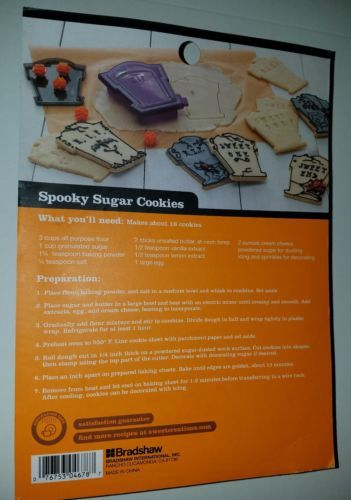 Halloween Tombstone Cookie Cutter Set Letter Stamps Plastic Dishwasher Safe NEW