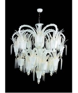 Murano Glass Modern Chandelier - Arsenale Opaline 30 Light  - $32,500.00