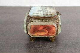 "Rare Vintage Regency 10"" Decorative Capitol Building Box Vanity Jewelry Trinket image 3"