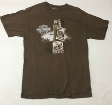 Harley Davidson T Shirt Conroe Texas Texan 34 Chest 26 Long Small - $11.13