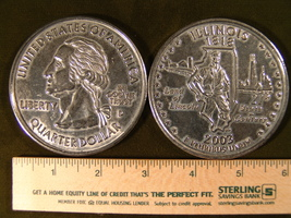 """Big 3"""" Inch Metal Coin Replica of a 2003 Issue Illinois State Quarter - $6.75"""