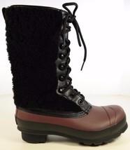 $295 HUNTER Genuine Shearling Waterproof Lace Up Rain Boots Women Sz US ... - $3.346,15 MXN