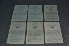 Risk: Lot of 6 Instruction Rules Booklets from 1959 1963 - $10.00