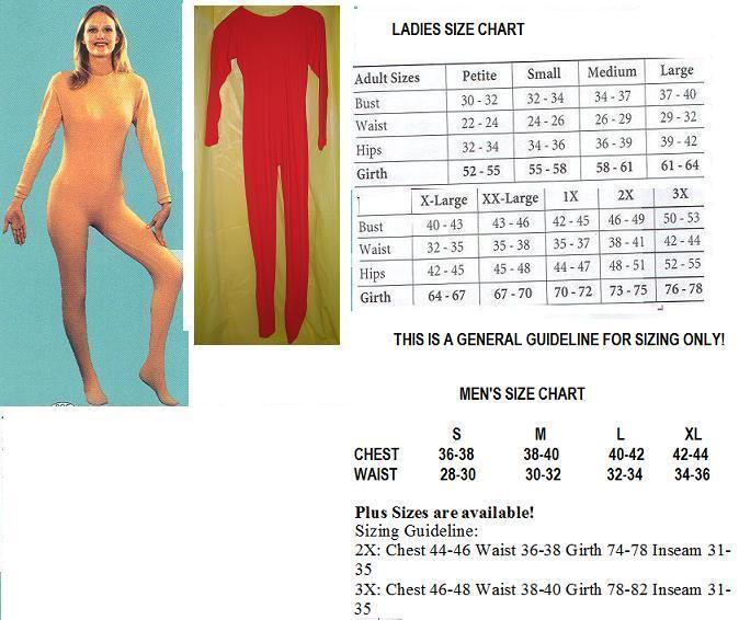 ADULT UNITARD RED MENS FULL BODY SUIT MEDIUM