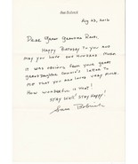 SAM BOBRICK AUTOGRAPHED HAND WRITTEN LETTER TV WRITE SAVED BY THE BELL - $4.48