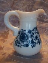 Collectible Vintage Avon Delft Blue and White Pitcher & Bowl Set- EUC image 6