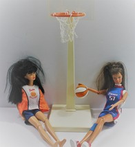 Barbie Doll Furniture Basketball Hoop Action WNBA Barbies and Basketball  - $34.82