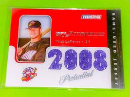 MLB MATT LAPORTA 2008 TRISTAR QUAD JERSEY RC MNT - $1.75