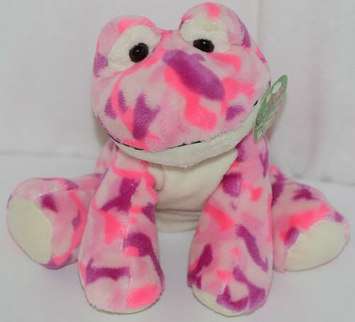 Fiesta Brand Comfies Collection A52770 Pink and Purple Camouflage Frog