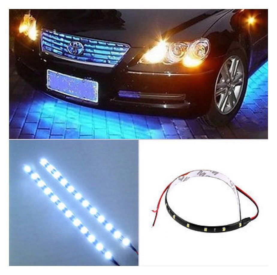 15 LED 30cm 12V Car Auto Motorcycle Waterproof Strip Bulb Flexible Light A29