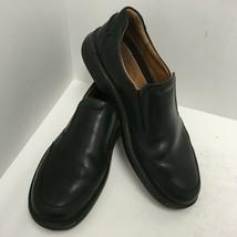 Ecco Mens Black Leather  Size 47 EU Size 13-13.5 M US Shock Point Slip O... - $46.74
