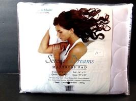 Serene Dreams Mattress Pad QUEEN White Deep Skirt Hypo Allergenic - $24.92