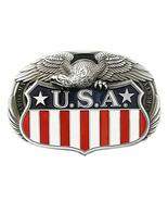 New Oval Fly Eagle On US Enamel Vintage Flag Belt Buckle Gurtelschnalle - $7.62