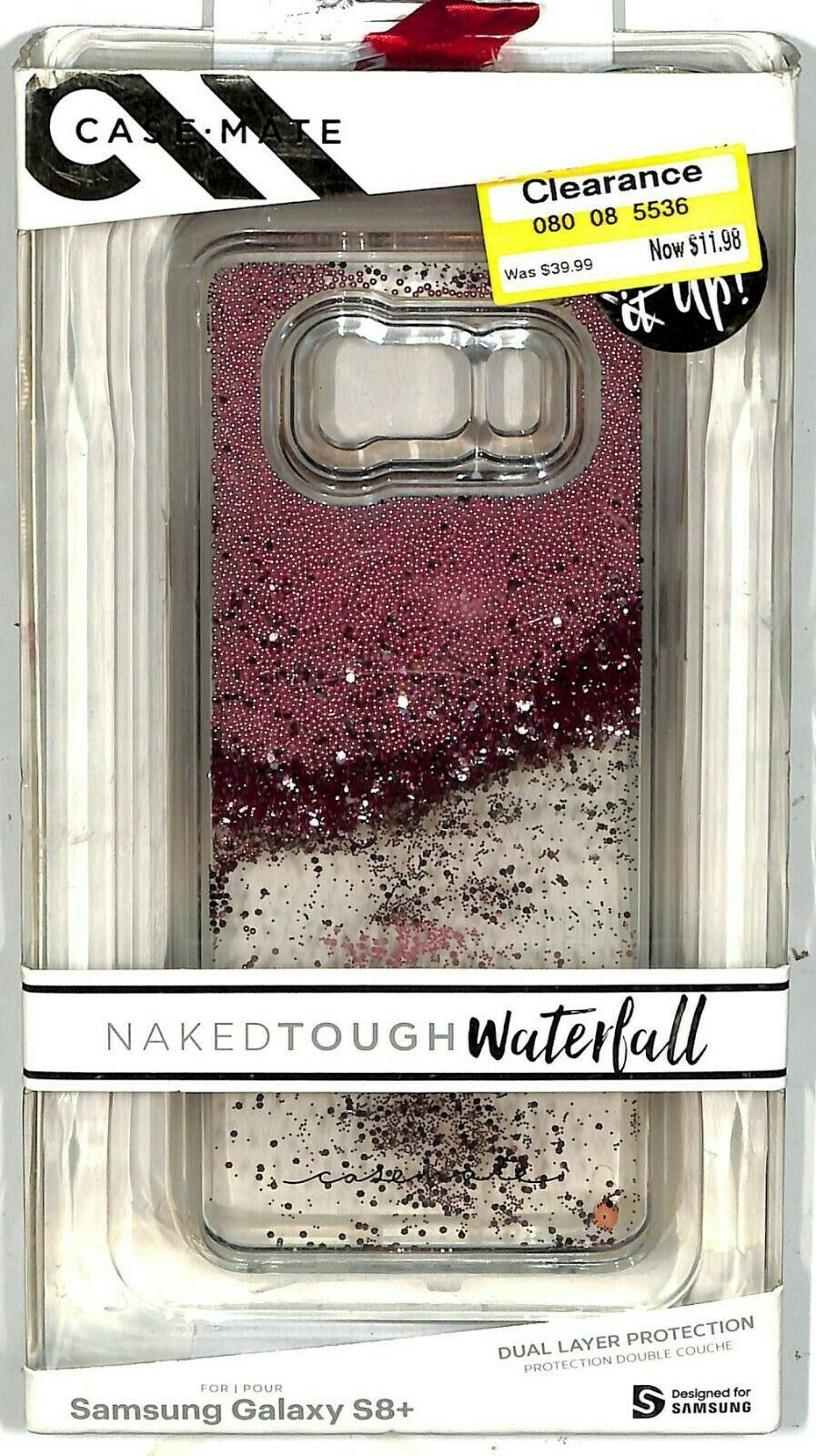 Case Mate Naked Tough Waterfall Case for Samsung Galaxy S8+ New-open box S8PLUS