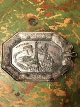 Paris France Silver Plated Souvenier Plaque. SAP POLYNE - $9.90