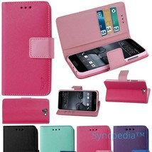 Pink Wallet Flip Case for HTC One A9 - QUALITY Leather Like Kickstand Fo... - $8.40