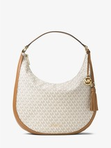 Michael Kors Lydia Vanilla Coated Twill Top-Zip Fastening Shoulder Bag  - $479.99
