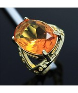 14K over Sterling Silver Yellow Topaz Ring Size 7 - $32.95