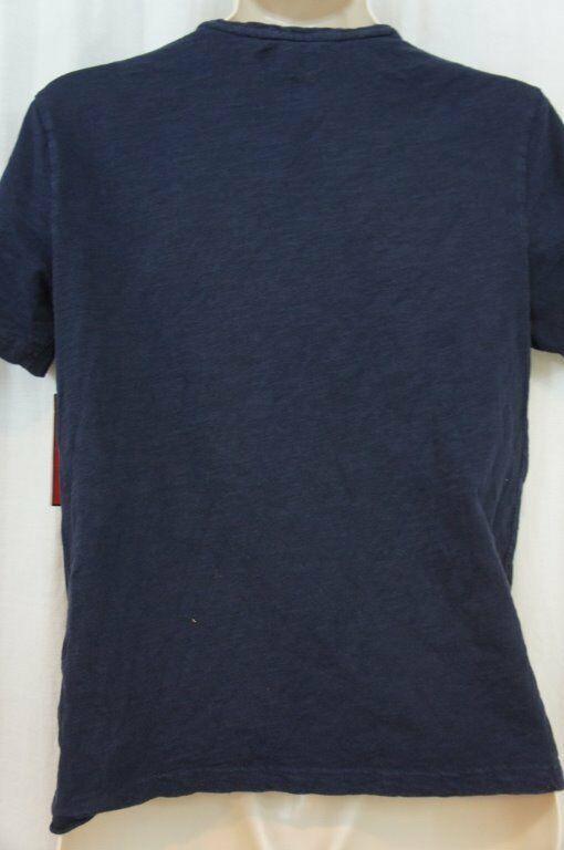 Alfani RED Mens T Shirt Sz S Neo Navy Blue Short Sleeve V Neck Pocket Tee   image 3