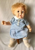"Vintage Hasbro REAL BABY Doll J Turner Rooted Hair Vinyl Cloth Body H23 1984 20"" - $34.95"