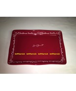 Hallmark Oh Christmas Treats Red Platter Very Rare Limited One Of A Kind - $49.99