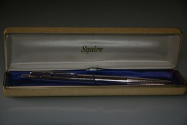 vintage rose gold BIRO Sqire ballpoint pen IN BOX - $33.69
