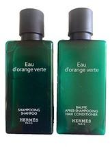 Hermes d'Orange Verte Shampoo and Conditioner Set Six 1.35 Ounce Bottles / 8.4 O