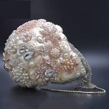 Silver or Ivory Cascading Teardrop Wedding Bouquet - $78.99+