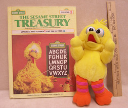 Fisher Price My First Pal Big Bird Plush Toy & Sesame Street Treasury book - $8.90