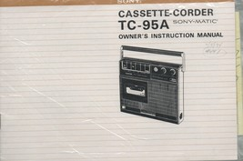 Sony Cassette Corder TC-95A Sony-Matic Owner's Instruction Manual. - $1.95