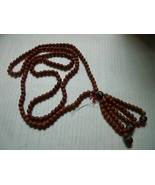 Beads-Vintage Broken Flapper Style Necklace with Brown and Cloisonne Beads - $30.00
