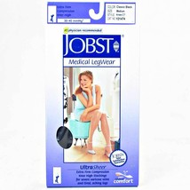 Jobst Ultrasheer 30-40 mmHg Large Black Thigh High Petite Silicone Lace Strip - $84.98