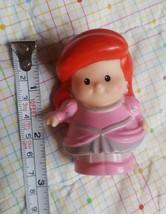 Fisher Price Little People Disney Princess Ariel Pink Dress Shell Mermai... - $6.94