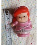 Fisher Price Little People Disney Princess Ariel Pink Dress Shell Mermai... - $7.66