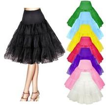 Retro Rockabilly Underskirt Swing Vintage Petticoat Fancy Net Skirt