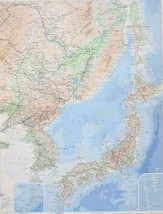 1958 LARGE MAP CHINA NORTH EAST ~ KOREA SEA OF JAPAN HARBIN SEOUL PUSAN ... - $87.99