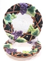 "Fitz and Floyd Mediterranean Fruit 8-1/2"" Salad/Dessert Plates 1992 Set ... - $24.99"