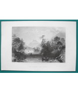 LAKE GEORGE & Narrows New York State - 1856 Engraving Print by BARTLETT - $8.96