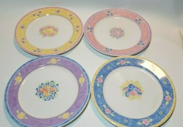 Disney Pooh Bouquet Dinner Plates Set of 4 Winnie Eeyore Piglet Tigger 1... - $34.60