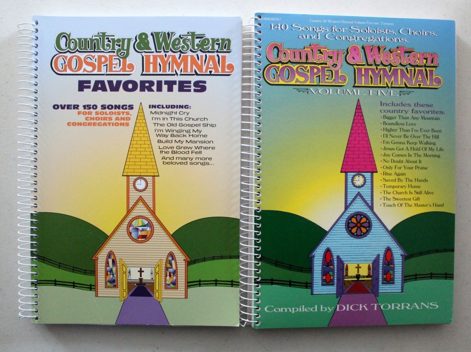Primary image for Country & Western Gospel Hymnal Vols 5 & Favorites 2 NEW Spiral Paperbacks 250+