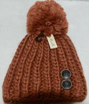 Simply Noelle Fall Winter Hat Large Pom Pom Two Large Buttons image 4